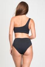 Asymmetrical High-Waist Two-Piece Bikini - 2