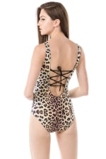 One Piece Cheetah Swimsuit - 5
