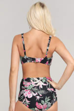 Rizzo Retro Inspired High Waist Bikini Set - Bird - Back