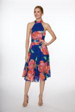 Floral Fit & Flare Dress - 1