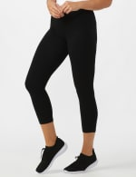 Tummy Control Pull On Capri - Black - Front