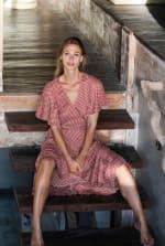 Polka Dot Wrap Dress - 3