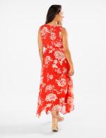 Spring Floral  Chiffon Dress - Poppy/ivory - Back