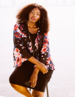 Marina Sleeveless Floral Chiffon Jacket Dress - 1