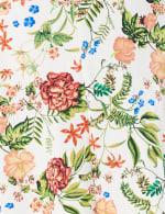 Marina Short Flutter Sleeve Floral Surplice Dress - Plus - 3