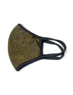 Metallic Fashion Mask - Black - Detail