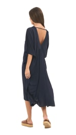 Strand Tunic Dress - Navy - Back
