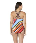 Nautica® Newport Stripe Cross Back One Piece Swimsuit - Multi - Back