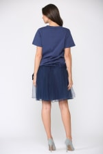 Krystal Knit Top - Navy - Back