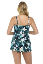 Penbrooke Jungle Exotic Swimdress Swimsuit - Multi - Back