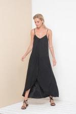 Alanis Sleeveless Maxi Dress - Black - Front