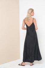 Alanis Sleeveless Maxi Dress - Black - Back