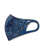 Medallion Anti-Bacterial Fashion Face Mask - Blue Multi - Detail