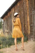 Lace Short  Peasant Dress - 2