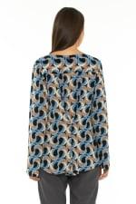 Long Sleeve Blouse Escher Dark Blue - 2