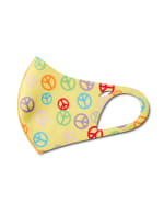 Kids' Peace Signs Anti-Bacterial Fashion Face Mask - Yellow Multi - Detail
