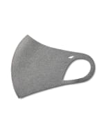 Solid Anti-Bacterial Fashion Face Mask - Heather Grey - Detail