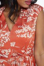 Ginger Floral Dress - Terracotta - Detail