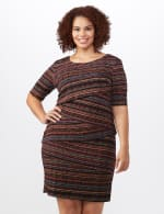 Tiered Bandage Dress - Plus - Rust - Front