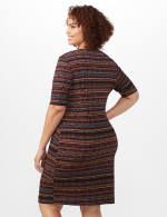Tiered Bandage Dress - Plus - Rust - Back