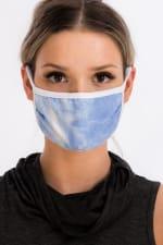 Sky Tie Dye Fashion Face Mask - Blue - Back