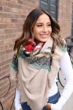 Colorful Blanket Scarf - 1