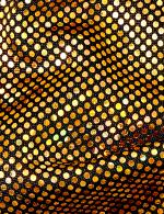 Gold Sparkle Fashion Mask - 4