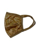 Gold Sparkle Fashion Mask - Gold - Detail