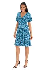 Cobalt Dress W/ Short Sleeves - 1