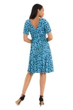 Cobalt Dress W/ Short Sleeves - 2