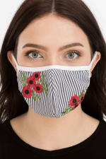 Floral Embroidered Fashion Face Mask - 1