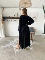 Linda Dress - Black - Back