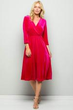 Elegant Velvet Evening Dress - 4