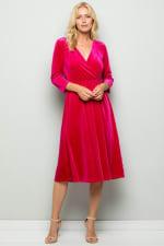 Elegant Velvet Evening Dress - 5