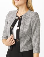 jewel neck jacket dress - 5