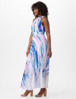 Watercolor Swirl Print Patio Dress - 4