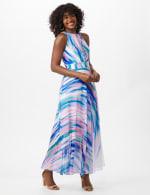 Watercolor Swirl Print Patio Dress - 5