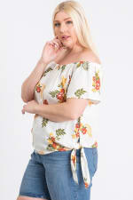 Floral Off-Shoulder Top - 3