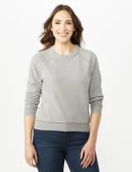 Mineral Wash Raw Edge Sweatshirt - 4