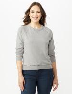 Mineral Wash Raw Edge Sweatshirt - 5
