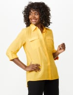Textured Button Front Tunic Shirt - 13