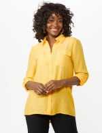 Textured Button Front Tunic Shirt - 14