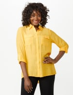 Textured Button Front Tunic Shirt - 15