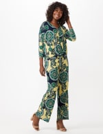 Paisley Tie Front Knit Top - 4