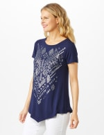 V Front Knit Screen Tunic - 8
