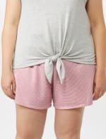 Color Block Tie Front Knit Tee - Plus - 2