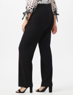 Plus Roz & Ali Secret Agent Trouser with Cateye Pockets & Zipper- Short Length - 4