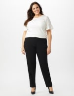 Roz & Ali Secret Agent Pull On Tummy Control Pants with Pockets - Short Length - 7