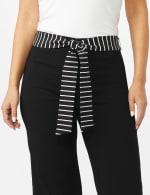 Pull On Crop Pants With Printed Tie Sash - 4