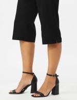 Pull On Crop Pants With Printed Tie Sash - 5